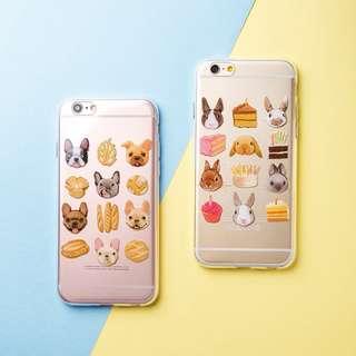 [3C]高質感貓咪*八哥*法鬥*兔子手機殼保護套矽膠套iphone6s/6s plus手機殼