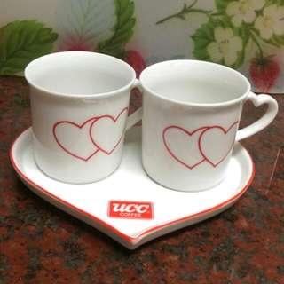 [贈]愛心UCC 杯盤組 小盆栽
