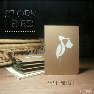 Newborn Stork Bird • Pop-up Card