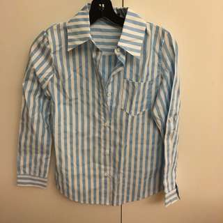 CHOIES 水藍色線條襯衫 (含運)