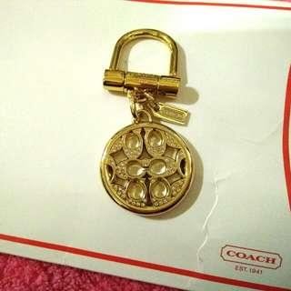 精品Coach水鑽吊飾鑰匙圈