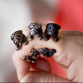 BNIP Bronze Pug Ring