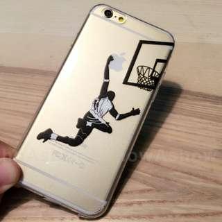 灌籃 籃球 iPhone se 5s 6s plus 手機殼 趣味 蘋果 軟 保護套 nba