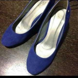 (降價)D+af寶藍高跟鞋