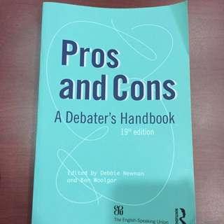 Pros And Cons: A Debater's Handbook