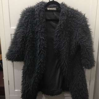 Fluffy Grey Jacket