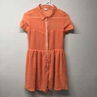 Cute Flowy And Mesh Dress
