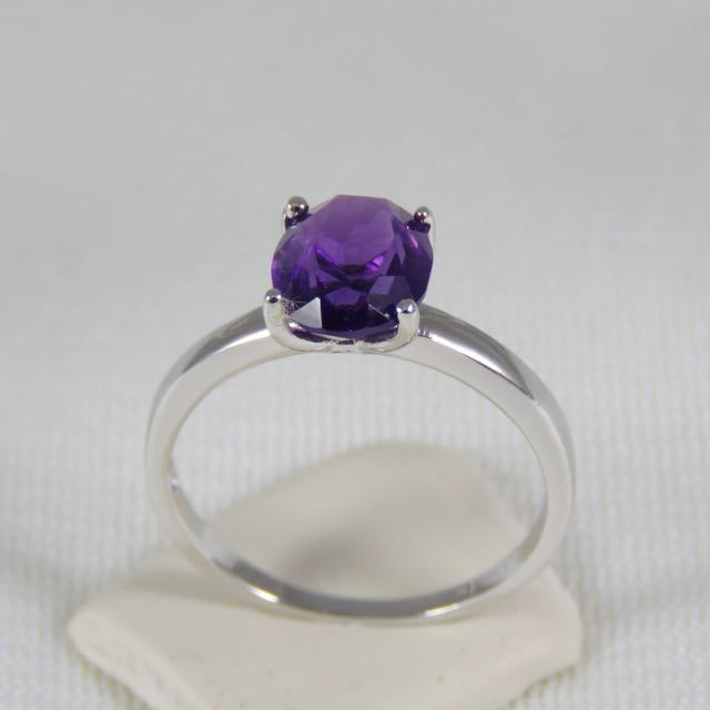 925純銀 紫水晶戒指(二月誕生石)