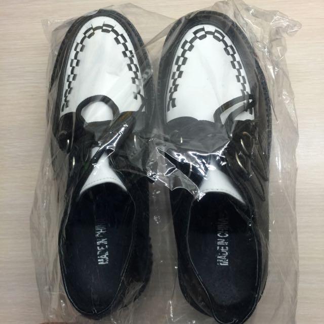 黑色古著厚底鞋