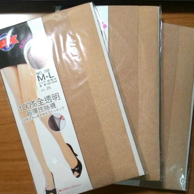 香川膚色絲襪 3雙合售不拆賣