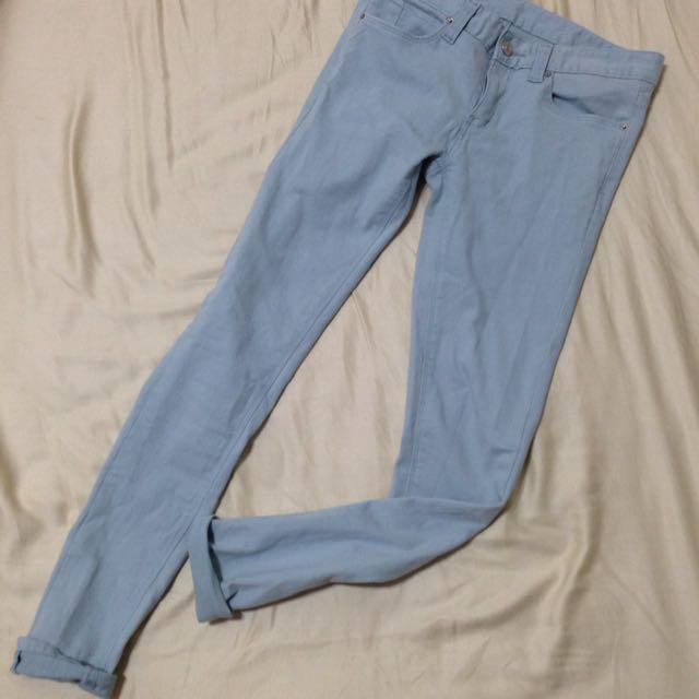 淺藍牛仔褲 正韓26腰