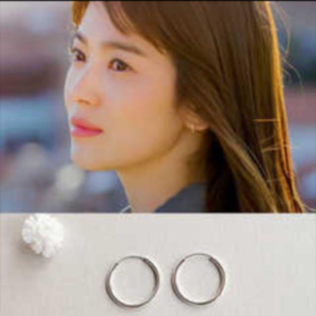 純銀 圓圈耳環 1cm 宋慧喬款