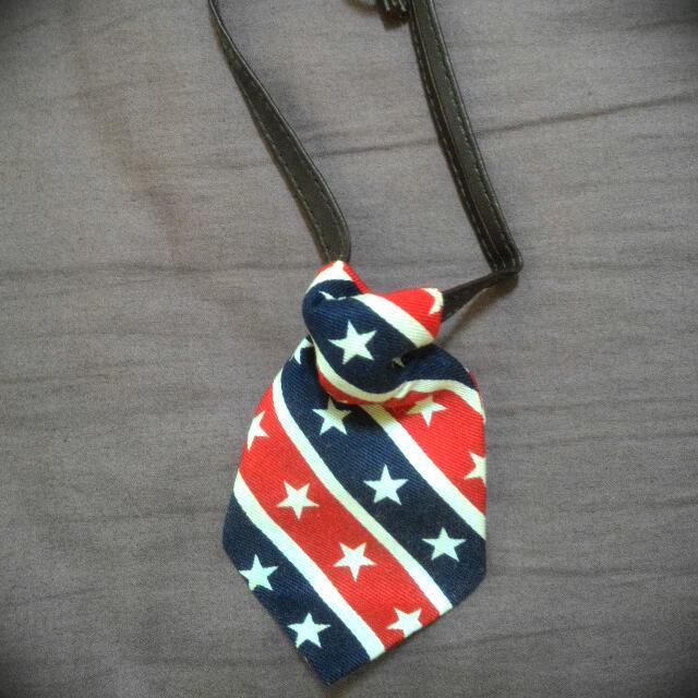 寵物項圈 星星藍白紅領帶 鈴鐺