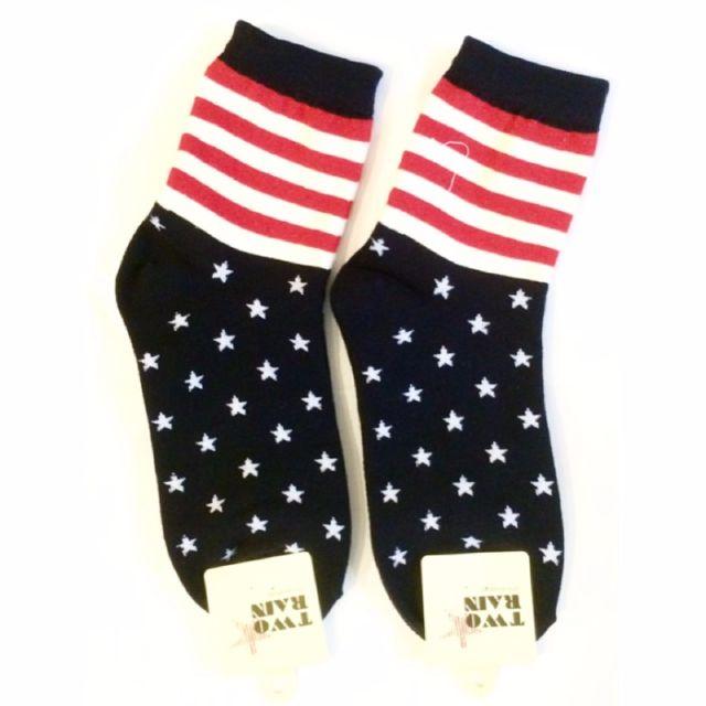 以樂玩具 美國星條旗造型襪 造型襪子 襪子 半筒襪 韓國貨
