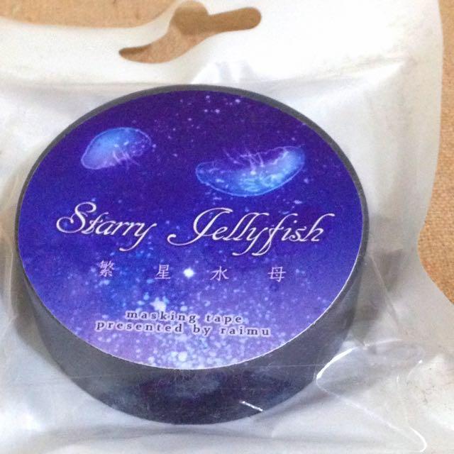 初版 Starry Jellyfish─繁星水母 原創紙膠帶