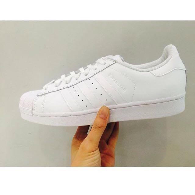 (二手)Adidas Superstar 全白24號