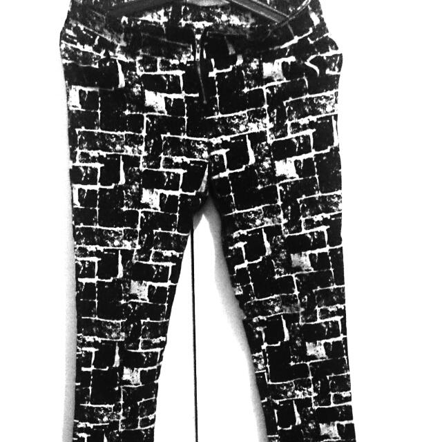 Black And White Printed Denims