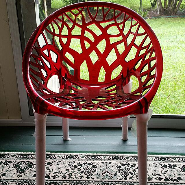 Clear Fire Truck Red Moulded Chair From Bunnings