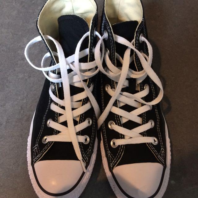 Converse基本款黑色高筒帆布鞋(待匯款)
