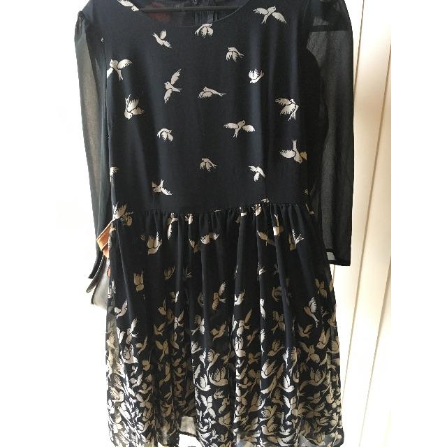 Dangerfield Bird Print Skater Dress