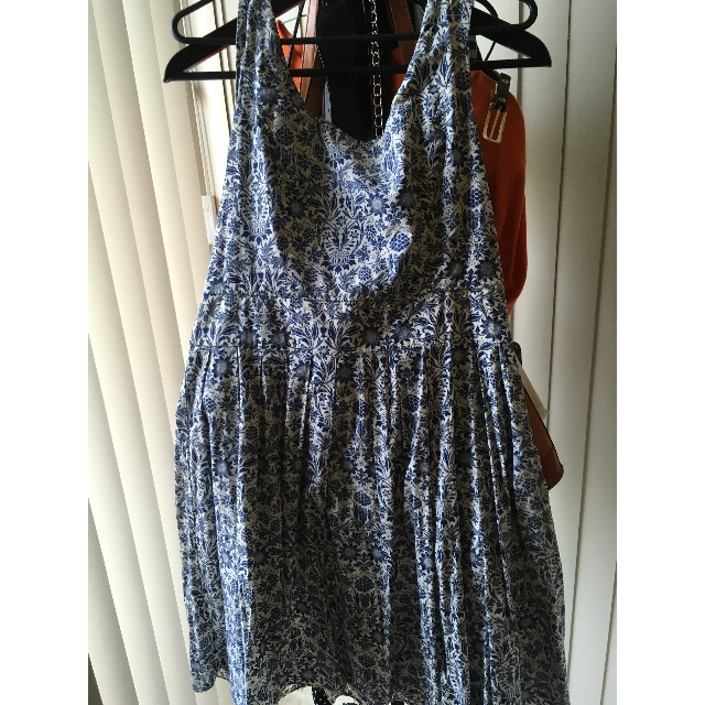 Dangerfield Floral Dress Blue