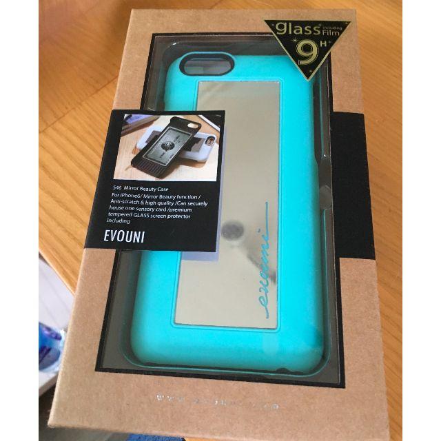 EVOUNI iPhone6 (4.7吋) 專用美人心機鏡愛美保護殼 蘋果綠色 全新