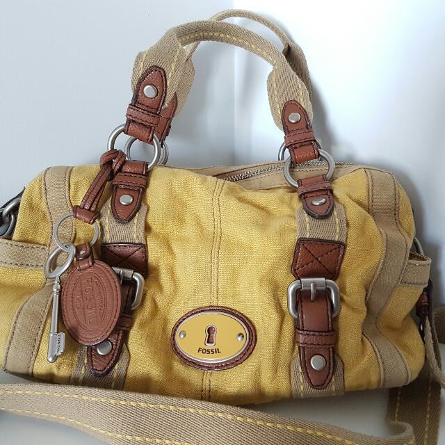 Fossil Canvas Handbag