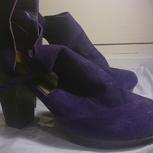 Hush Puppies Purple Stilettos