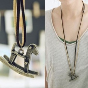 kalung korea import kuda trojan horse necklace - FAS017
