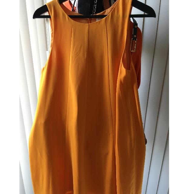 Keepsake the Label Orange Swing Dress