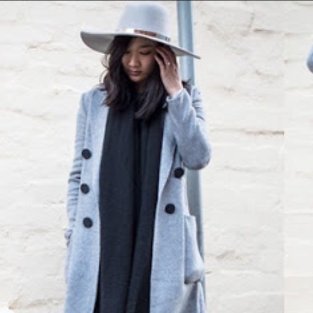 Kookai Wide Brim Wool Hat