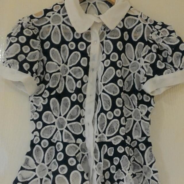 Lace Peplum Shirt