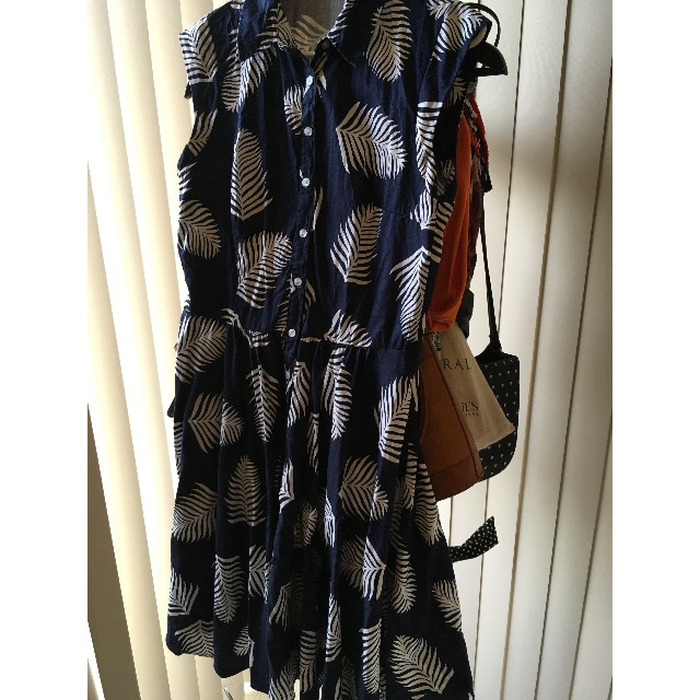 Leaf Fit and Flare Shirt Dress