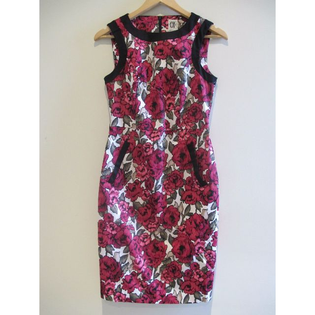Michel  Klein Paris Flower Dress Size 36
