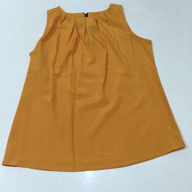 Orange Ciffon Top
