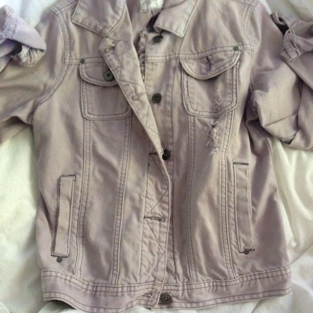 Pastel Ripped Denim Jacket