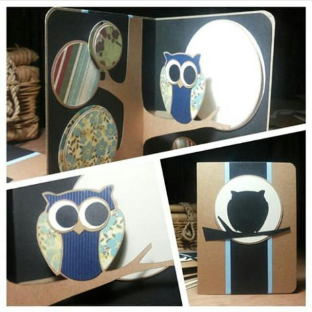 Pop Up Card • Full Moon • Blue