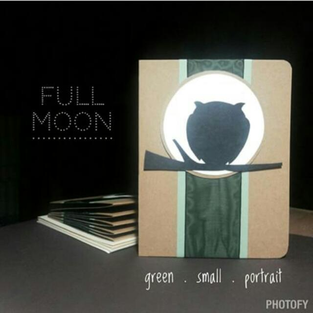 Pop Up Card • Full Moon • Green