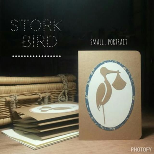 Newborn Stork Bird • Pop-up Card