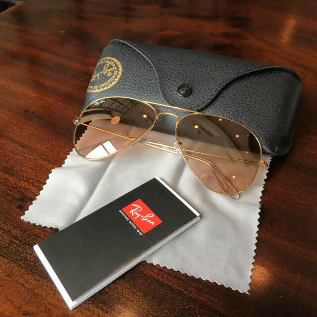 RayBan Aviator Green Lense Sunglasses 100% Original