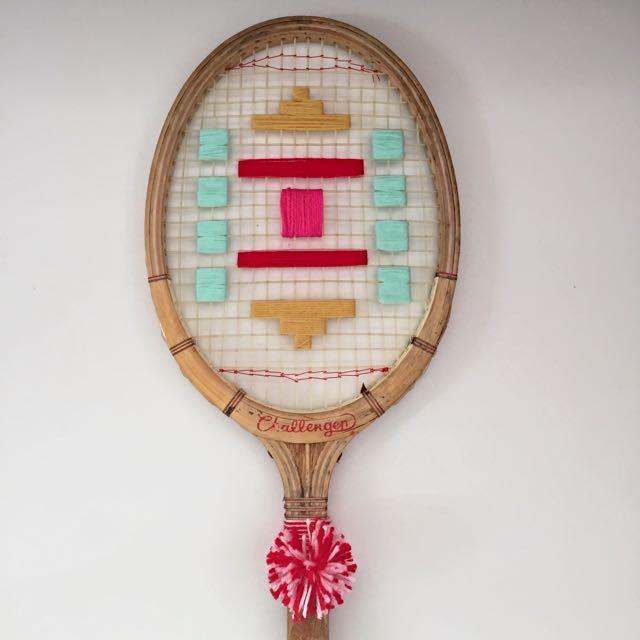 Retro Tennis Racquet Weaving