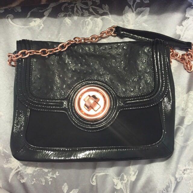Rose Gold And Black Mimco Bag