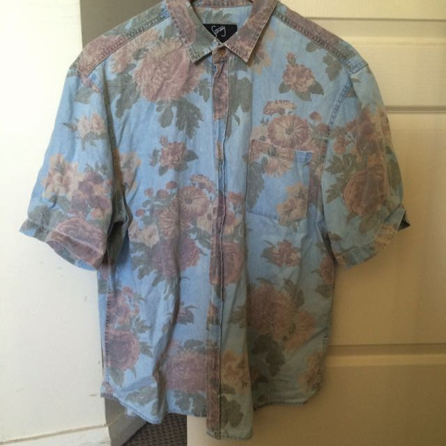 Short Sleeve Floral Shirt XXL