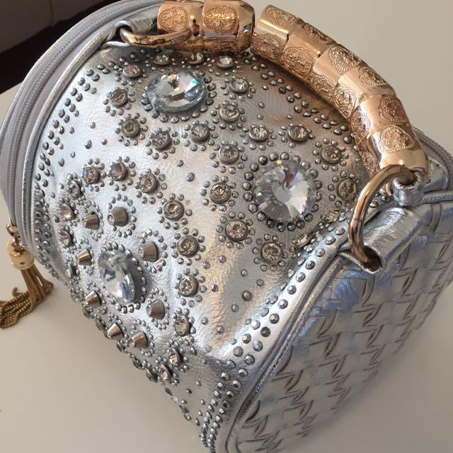 Silver And Diamanté Handbag!