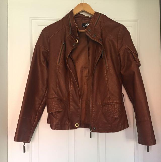 Tan Pleather Jacket
