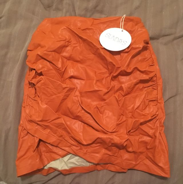 Tangerine Mini Skirt - Sundays (clothing brand)