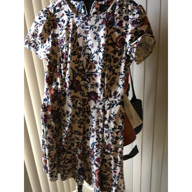 Topshop Jacquard Floral Tea Dress