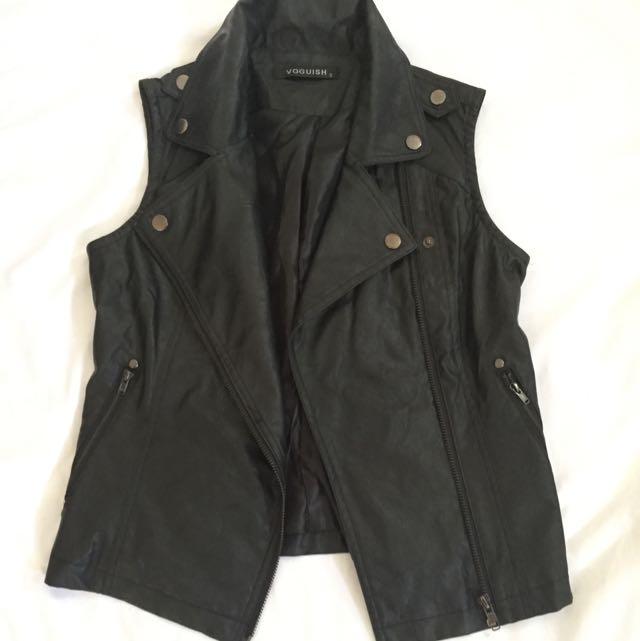Vest Leather Black