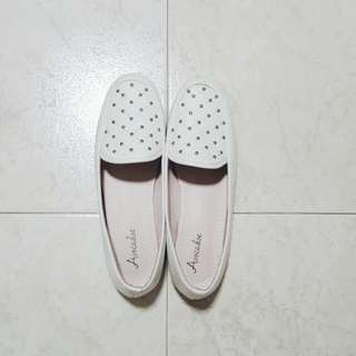 White Studded Loafers [PENDING]