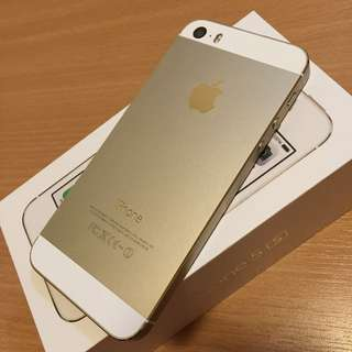 iPhone 5s 32Gb Gold, mint condition